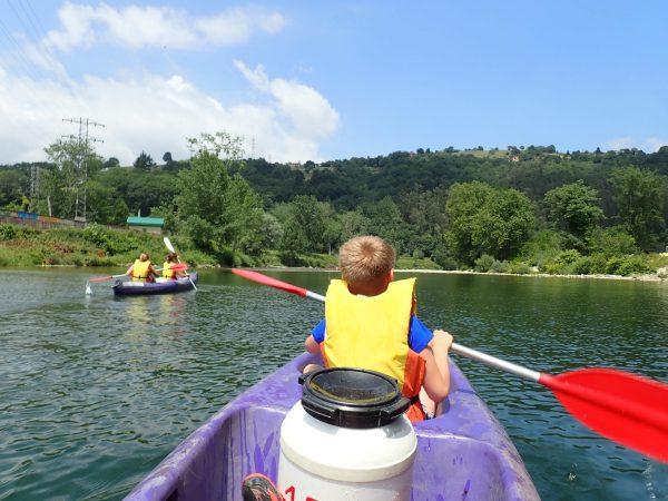 Turismo activo en Asturias Descenso del Sella en canoa con niños